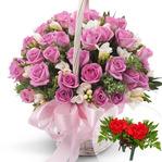 핑크꽃바구니-감사드립니다