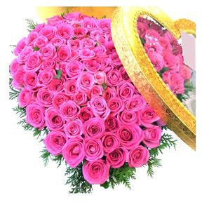 핑크장미100송이하트