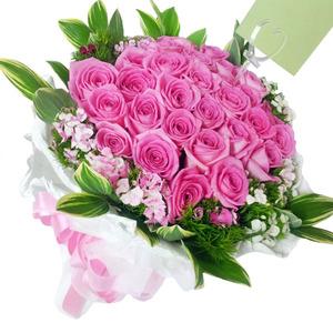 핑크장미꽃다발